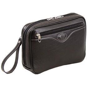 [和製 鞄] セカンドバッグ A5ファイル対応 シンプル 軽量 ポーチ メンズ バッグ (クロ)