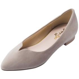GeeRA Vカットローヒールパンプス ベージュ レディース 5,000円(税抜)以上購入で送料無料 パンプス 夏 レディースファッション アパレル 通販 大きいサイズ コーデ 安い おしゃれ お洒落 20代 30代 40代 50代 女性 靴 シューズ