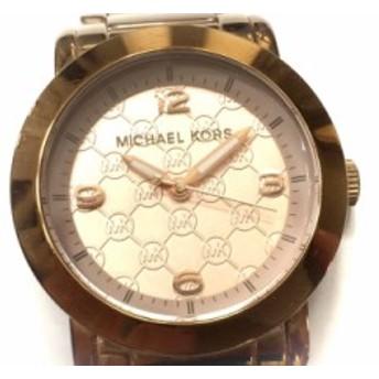 マイケルコース MICHAEL KORS 腕時計 MK-3159 レディース ピンクゴールド【中古】20190728