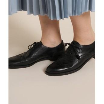 アナトリエ Maretto(マレット)ウィングチップレースアップシューズ レディース ブラック(019) 70(24.0cm) 【anatelier】
