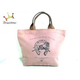 アニヤハインドマーチ Anya Hindmarch トートバッグ - ピンク×ブラウン キャンバス×レザー     スペシャル特価 20191009