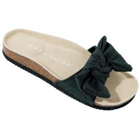 GeeRA フラットリボンサンダル ブラック レディース 5,000円(税抜)以上購入で送料無料 サンダル 夏 レディースファッション アパレル 通販 大きいサイズ コーデ 安い おしゃれ お洒落 20代 30代 40代 50代 女性 靴 シューズ