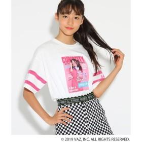 ピンク ラテ(ティーン) Tシャツ レディース オフホワイト(003) 02(M165cm) 【PINK latte (Teen)】