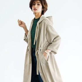 ベルーナ ライナー付モッズ風コート キャメル L レディース