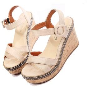 [HSFEO] ウェッジサンダル レディース アンクルストラップ スエード シンプル ファッション 歩きやすい 軽量 美脚 女子力 柔らかい 滑り止め フィート 夏靴 カジュアルシューズ 婦人靴