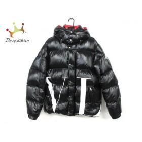 バレンチノ VALENTINO ダウンジャケット メンズ 美品 QV0CN00ACUX 黒×白 新着 20190830