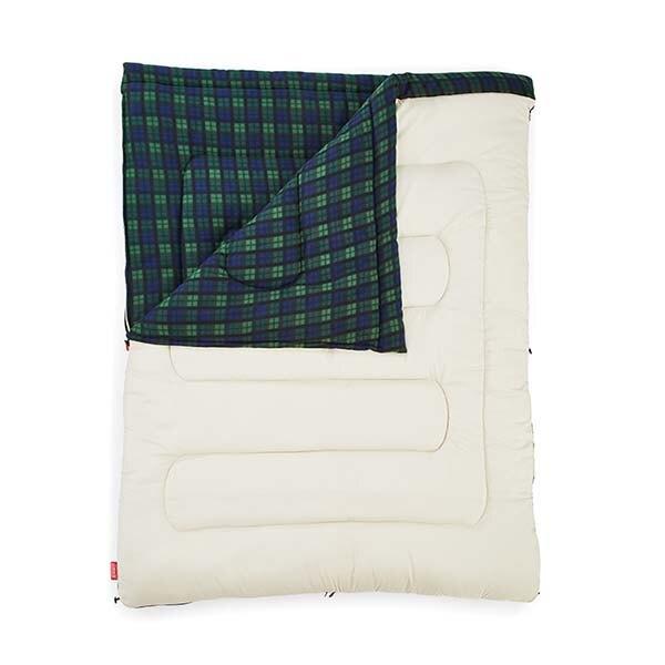 Coleman 33804 橄欖格紋刷毛睡袋