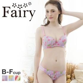 23%OFF (フェアリー)Fairy チューリップシフォン ブラショーツセット BCDEF 大きいサイズ サイズ豊富 プチプラ 大人可愛い (1771213A)