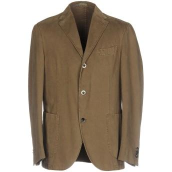 《期間限定 セール開催中》BOGLIOLI メンズ テーラードジャケット カーキ 56 コットン 100%