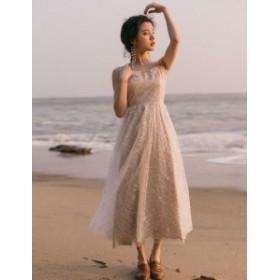 パーティードレス 結婚式 二次會 ワンピースドレス 謝恩會 同窓會 成人式 お呼ばれドレス 韓國 オルチャン ワンピース 総レー