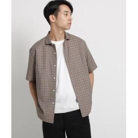 ドレステリア 40×32コーマビエラチェックシャツ メンズ ワインレッド(863) 92(L) 【DRESSTERIOR】