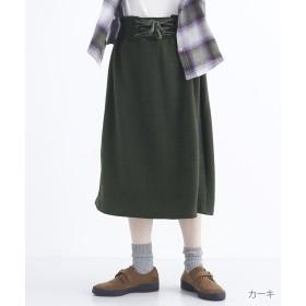 メルロー ウエストレースアップスカート レディース カーキ FREE 【merlot】