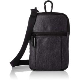 [イシュタル] ショルダーバッグ ジャック 耐水素材 2層タイプ ベルトポーチ カラビナ付 ブラック