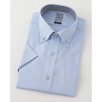 【SALE(三越)】<LORDSON/ロードソン> 半袖色ドビーワイシャツ(ZON611-251)(MO019N0MO00000GIG) 251スカイブルー 【三越・伊勢丹/公式】