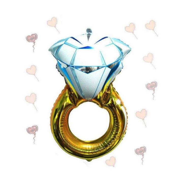 [Hare.D] 43吋 鑽戒 戒指 鋁箔氣球 喜宴 婚禮 汽球情人節 場地佈置
