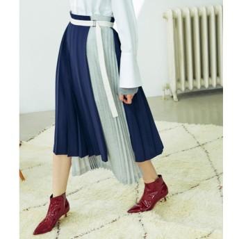 【キャスト(CAST:)】 【Oggi10月号掲載】プリーツコンビスカート グレー4