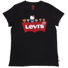 【40%OFF】 リーバイス パーフェクトTシャツ HELLO. KITTY & FRIENDS レディース BLACKS M- 【Levi's】 【タイムセール開催中】