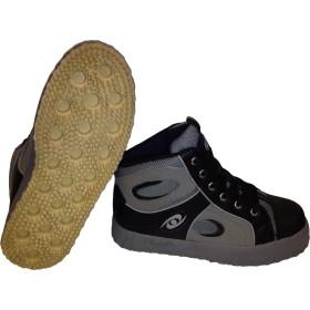 ACACIA Grip-Inator Broomball Shoes, Gray/Black/Gray, 4