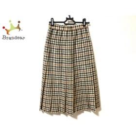 ダックス DAKS スカート サイズ60-88 レディース 美品 ベージュ×黒×ブラウン チェック柄 新着 20190729