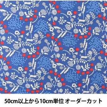 【数量5から】 生地 『echino エチノ sprout -mini- ブルー 綿麻シーチング EKX-97040-42D』 KOKKA コッカ