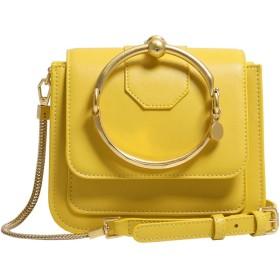 レザーチェーンバッグ女性のショルダーメッセンジャーバッグ多目的ポータブル小さな正方形のバッグ