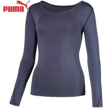 PUMA(プーマ) テック ライト LSモックネック ヘザーTシャツ フィットネス ウェア 517567-02