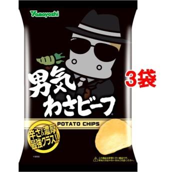 ポテトチップス 男気わさビーフ (100g3袋セット)