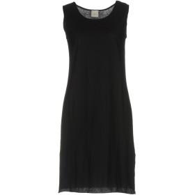 《セール開催中》._LA_FOIS. レディース ミニワンピース&ドレス ブラック 2 コットン 100%
