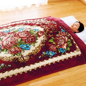 ベルーナインテリア 消臭・吸湿発熱機能の「サンバーナー(R)」使用衿付ボリューム毛布 1 シングル3色組