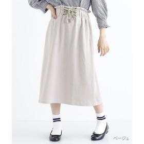 メルロー ウエストレースアップスカート レディース ベージュ FREE 【merlot】