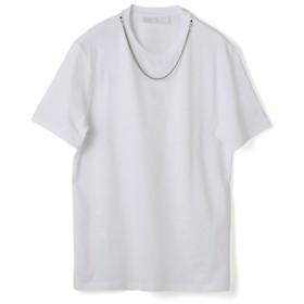 NEIL BARRETT / STREETSTYLE NECKLACE SPRA クルーネックTシャツ ホワイト/SMALL(エストネーション)◆メンズ Tシャツ/カットソー