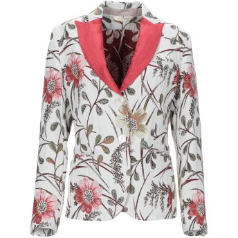 《セール開催中》BOTTEGA MARTINESE レディース テーラードジャケット ホワイト 38 ポリエステル 45% / コットン 40% / アクリル 10% / 指定外繊維 5%