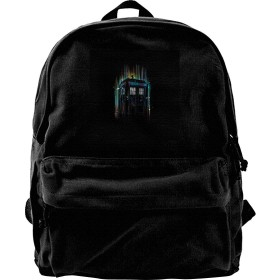 XQSMA Canvas Backpack Doctor Who Regeneration is Coming Rucksack Gym Hiking Laptop Shoulder Bag Daypack for Men Women