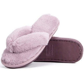 [KOLCY] スリッパ ルームシューズ 鼻緒 付き 綿 ふわふわ サンダルスリッパ 抗菌防臭 室内履き おしゃれ スリッパ 静か 上履き 女性 滑り止め 草履 軽量