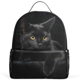 Chovy リュック レディース リュックサック 高校生 メンズ 旅行 通勤 通学 黒猫 猫柄 ネコ ブラック バックパック 中学生 おしゃれ かわいい アウトドア 軽量 男女兼用