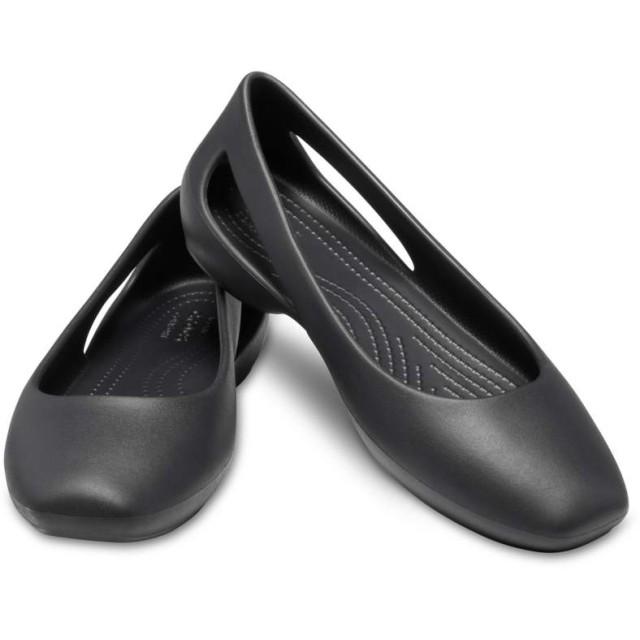 【クロックス公式】 クロックス スローン フラット ウィメン Women's Crocs Sloane Flat ウィメンズ、レディース、女性用 ブラック/黒 21cm,22cm,23cm,24cm,25cm,26cm flat フラットシューズ バレエシューズ ぺたんこシューズ
