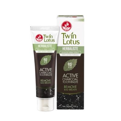 Twin Lotus雙蓮 皇室草本活性碳亮白牙膏50g