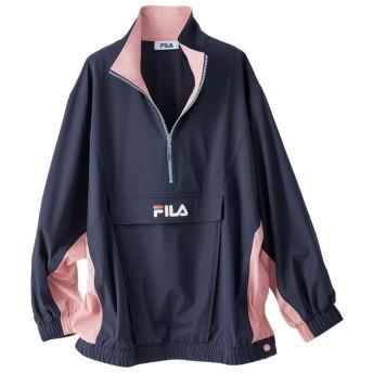 ベルーナ <FILA>配色デザインはっ水ブルゾン ネイビー×ピンク M~L レディース