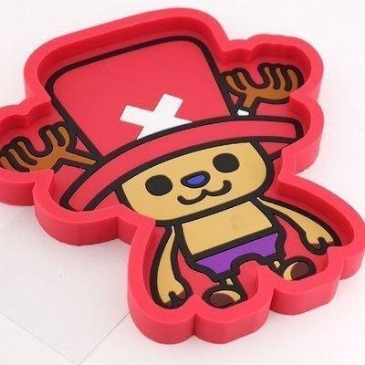權世界@汽車用品 日本 ONE PIECE 航海王/海賊王 喬巴 橡膠 置物盤 收納盒 CE47