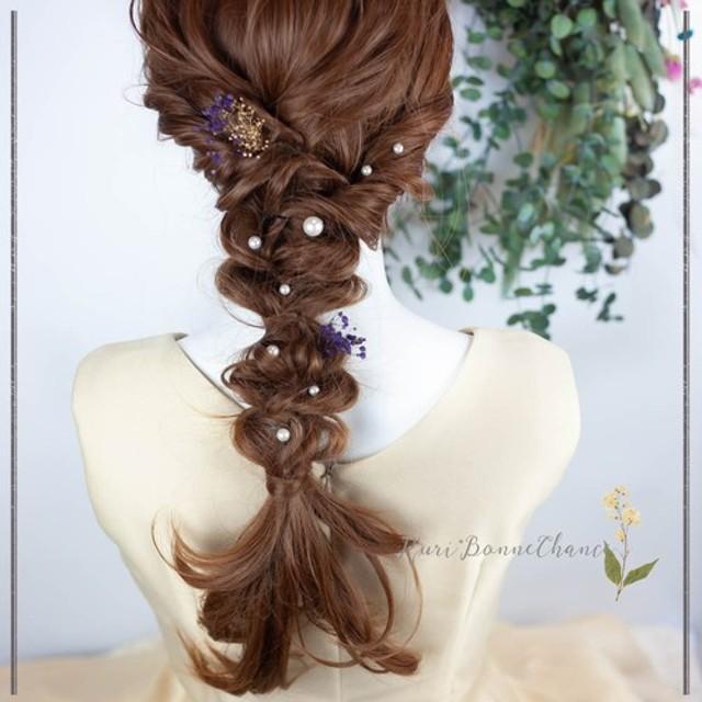 *リオナフルールシュフティ* ヘッドドレス 髪飾り お呼ばれ カスミソウ 袴 結婚式 ドレス 振袖 和 #rbh-263
