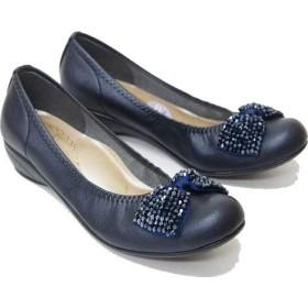 バレエシューズ レディース 靴 FIRST CONTACT ファーストコンタクト nc39763[24.5cm×ネイビー]