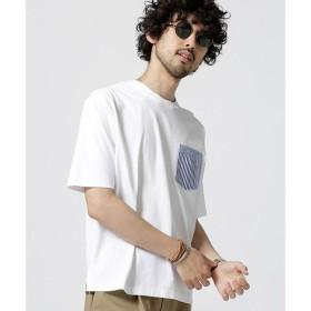 【ナノ・ユニバース/nano・universe】 異素材パッチワークポケットTシャツ