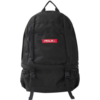 MILKFED big backpack bar 2 バックパック リュックサック レディース 通学 カジュアル ブラック FREE