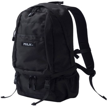 MILKFED big backpack bar バックパック リュックサック レディース 通学 カジュアル ブラック FREE