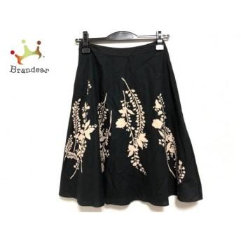 トゥービーシック TO BE CHIC スカート サイズ40 M レディース 美品 黒×ベージュ 花柄 新着 20190729