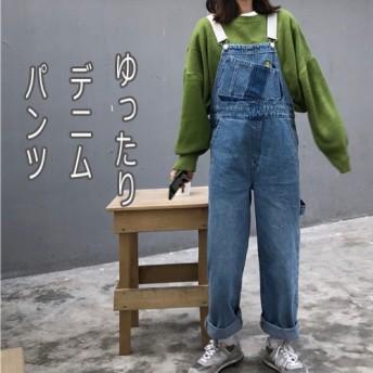 見なきゃ損する!INS熱い販売/韓国ファッション 2019 キャミソール ゆったり デニム パンツ ジーンズ