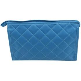 KLUMA 化粧ポーチ 耐久性 メイクボックス 多機能ポーチ スマホ入れ 軽量 洗面用具入れ 旅行用化粧品 ブルー