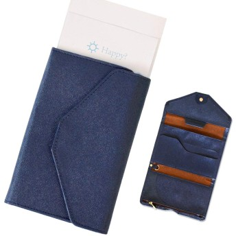 KXF 三つ折り財布 パスポートケース 大容量 ペンホルダー1フックキーリング レトロ スリム クレジットカードパッケージ 搭乗券 海外旅行 出張 ビジネス適用
