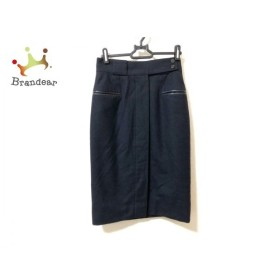 エルメス HERMES スカート サイズ38 M レディース 美品 ダークネイビー  値下げ 20190905