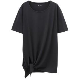マックハウス TARZAN ターザン 裾結びチュニック TZL2904 レディース ブラック M 【MAC HOUSE】